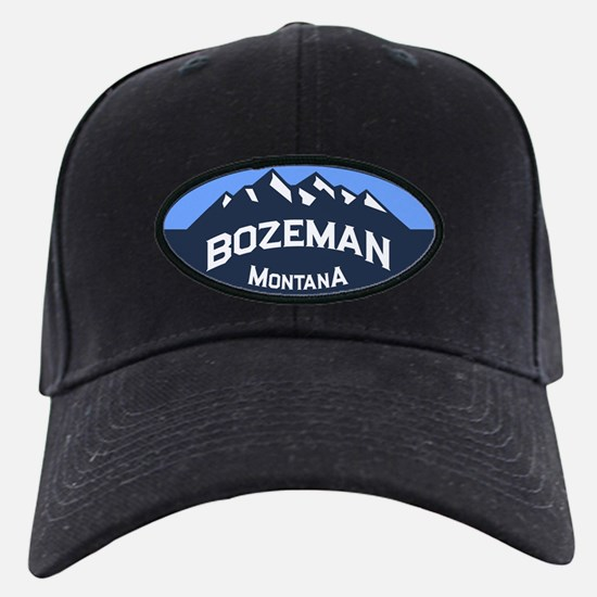 Bozeman Logo Blue Baseball Hat