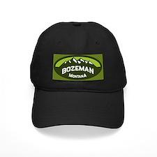 Bozeman Logo Green Baseball Hat
