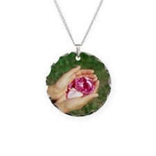 Flower held in hands - Necklace