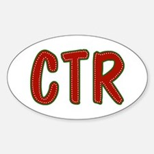 Christmas CTR Oval Bumper Stickers