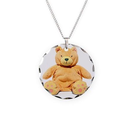 Teddy bear - Necklace Circle Charm