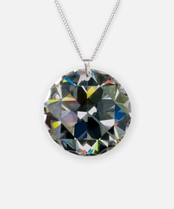 Cut and polished diamond - Necklace