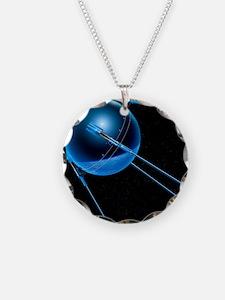 Sputnik 1 satellite - Necklace