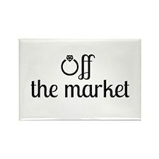 Off the Market Bride Rectangle Magnet