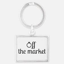 Off the Market Bride Landscape Keychain
