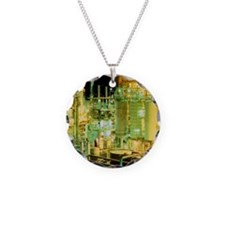 Oil refinery at night - Necklace
