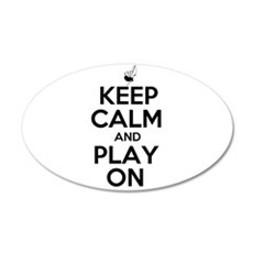 Keep Calm and Play On Bagpipe Wall Decal
