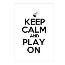 Keep Calm and Play On Bagpipe Postcards (Package o