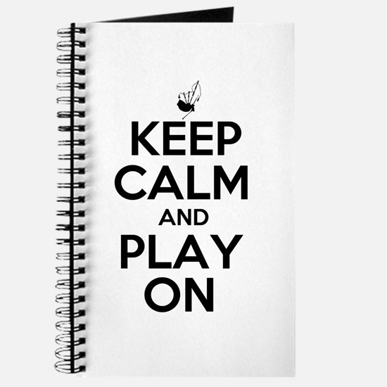 Keep Calm and Play On Bagpipe Journal