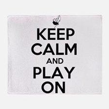 Keep Calm and Play On Bagpipe Throw Blanket