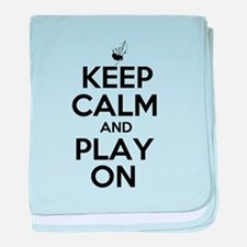 Keep Calm and Play On Bagpipe baby blanket