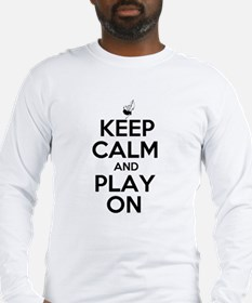 Keep Calm and Play On Bagpipe Long Sleeve T-Shirt