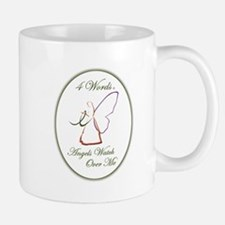 4 Words - Angels Watch Over Me - Liver Cancer Mug