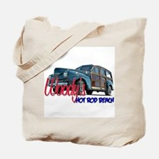 Woody Hot Rod Beach Tote Bag