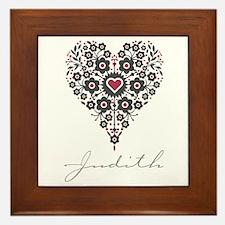 Love Judith Framed Tile