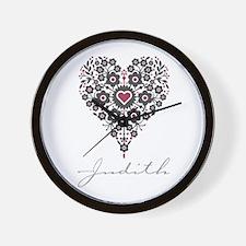 Love Judith Wall Clock