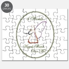 4 Words - Angels Watch Over Me - Melanoma Puzzle