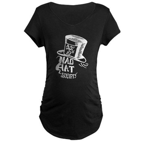 Mad Hat Society Maternity Dark T-Shirt
