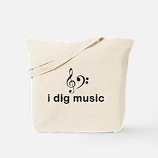 I Dig Music (Clefs) Tote Bag