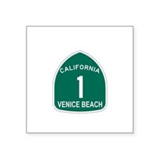 Venice Beach, California High Sticker (Rectangular