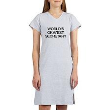 World's Okayest Secretary Women's Nightshirt