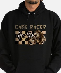 Cafe racer chequered flag Hoodie (dark)
