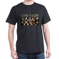 Cafe racer chequered flag T-Shirt