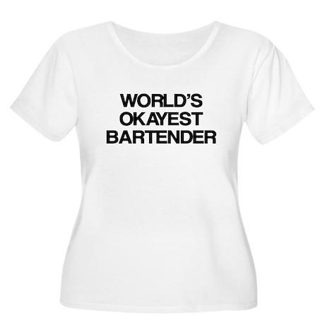 World's Okayest Bartender Women's Plus Size Scoop