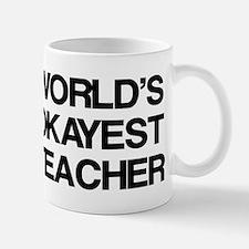 World's Okayest Teacher Small Mugs