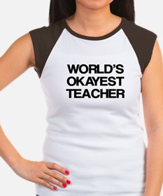 World's Okayest Teacher Women's Cap Sleeve T-Shirt