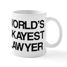 World's Okayest Lawyer Small Mug