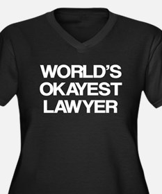 World's Okayest Lawyer Women's Plus Size V-Neck Da