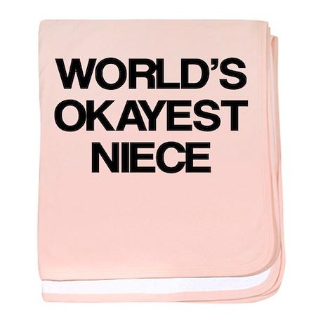 World Okayest Niece baby blanket