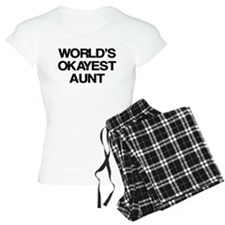 World's Okayest Aunt Pajamas