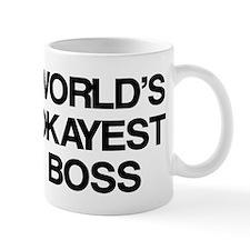 World's Okayest Boss Small Mug