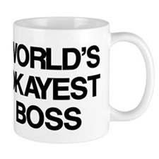 World's Okayest Boss Small Mug