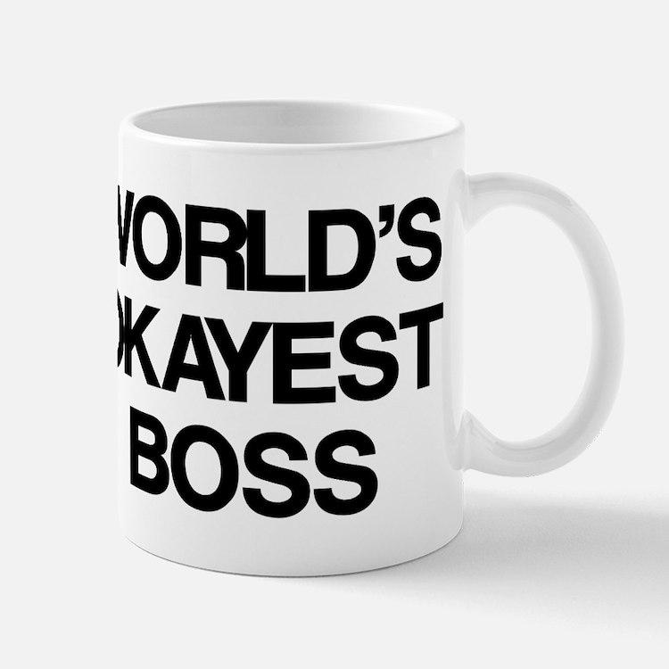 World's Okayest Boss Small Small Mug