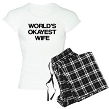 World's Okayest Wife pajamas