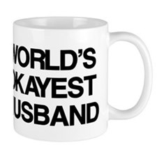 World Okayest Husband Small Mug