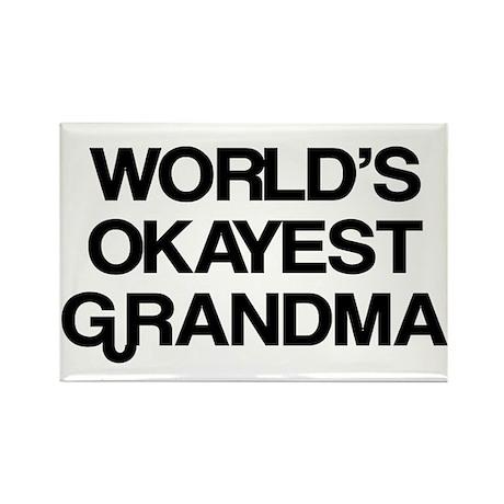 World's Okayest Grandma Rectangle Magnet