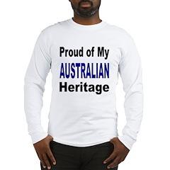 Proud Australian Heritage Long Sleeve T-Shirt