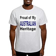 Proud Australian Heritage Ash Grey T-Shirt