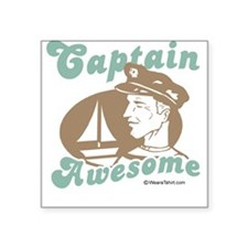 Captain Awesome - Rectangle Sticker