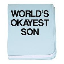 World's Okayest Son baby blanket