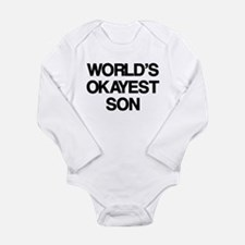 World's Okayest Son Long Sleeve Infant Bodysuit