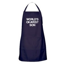 World's Okayest Son Apron (dark)