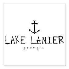 "LAKE LANIER GEORGIA ANCHOR Square Car Magnet 3"" x"