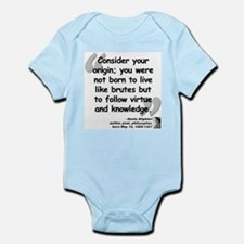 Dante Virtue Quote Infant Bodysuit