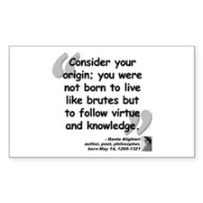 Dante Virtue Quote Decal