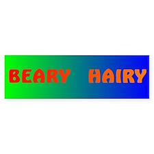 BEARY HAIRY 3 Bumper Bumper Sticker